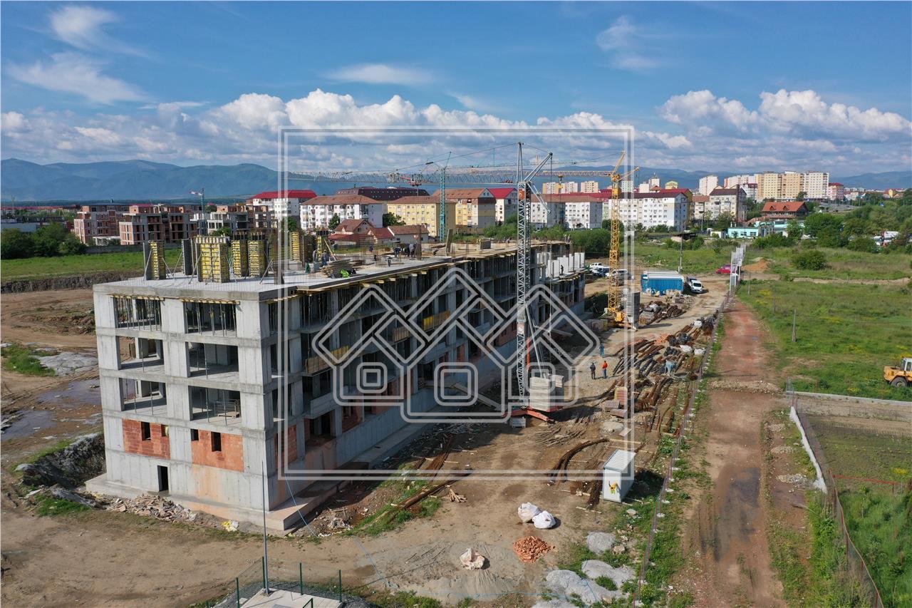 Garsoniera de vanzare in Sibiu - cu o terasa de 15 mp - zona PREMIUM
