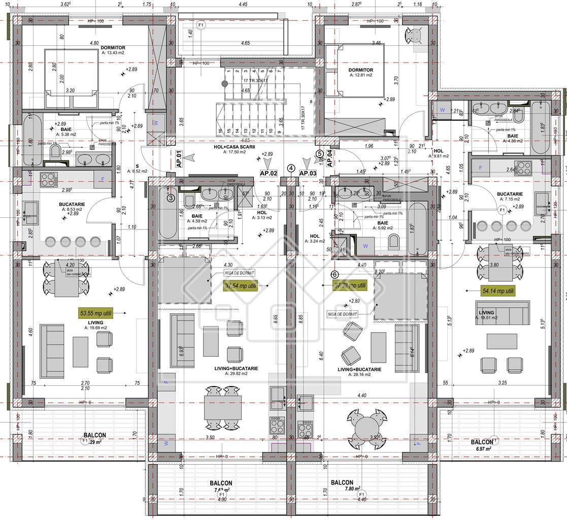 Apartament de vanzare in Sibiu - 2 camere -logie de 7.29 mp