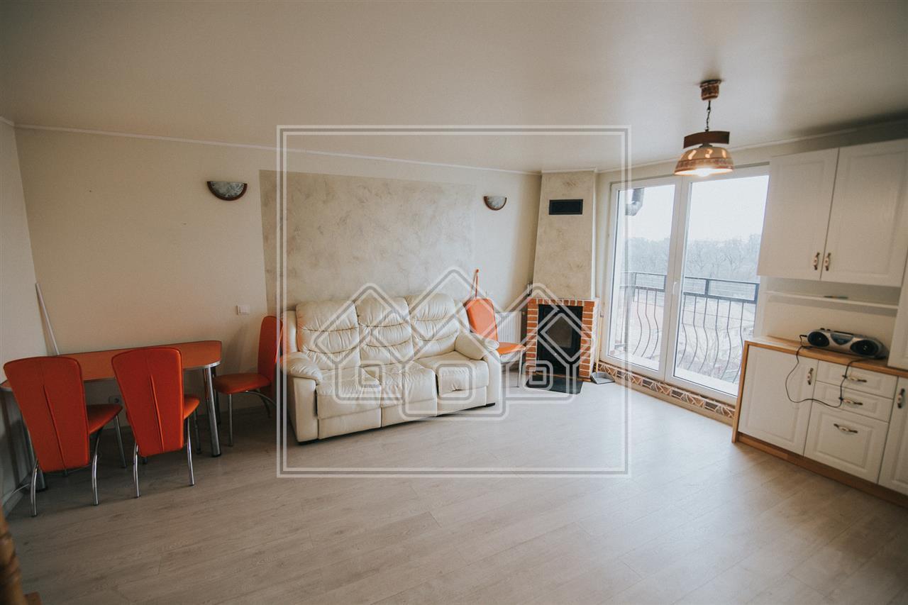 Apartament de vanzare in Sibiu-Mobilat si utilat-Zona V.Aurie-mansarda