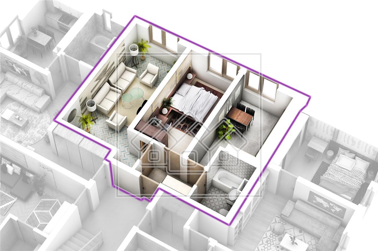 Apartament cu 2 camere decomandat de vanzare in Sibiu