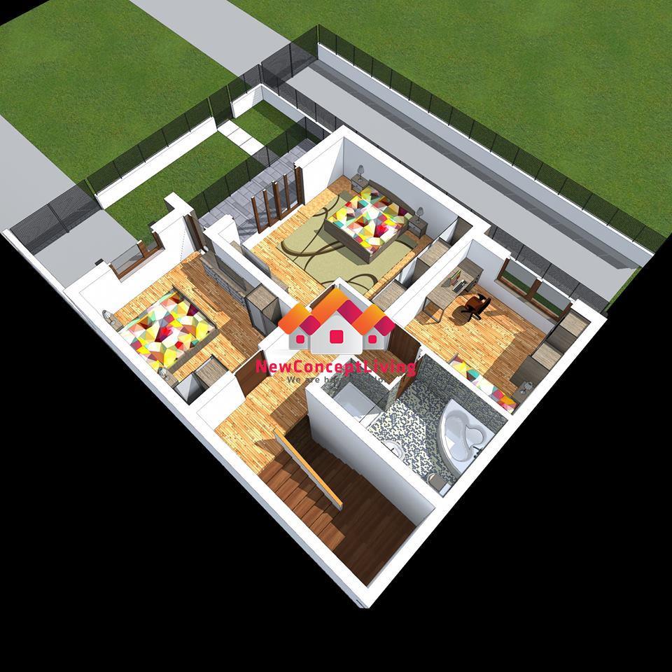 Casa de vanzare in Sibiu -128 mp utili si curte de 107mp