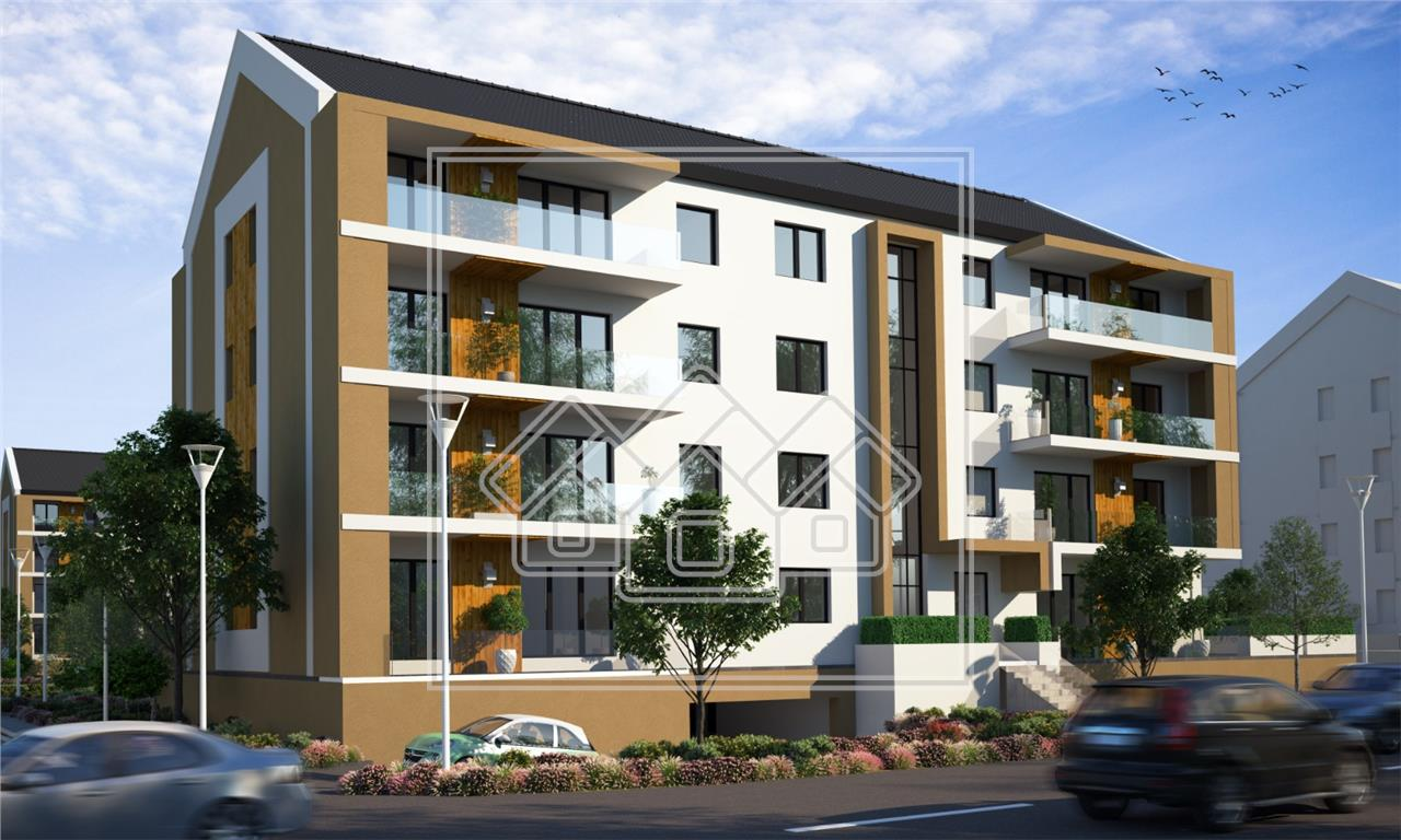 Apartament 2 camere in Sibiu - concept nou - terasa superba
