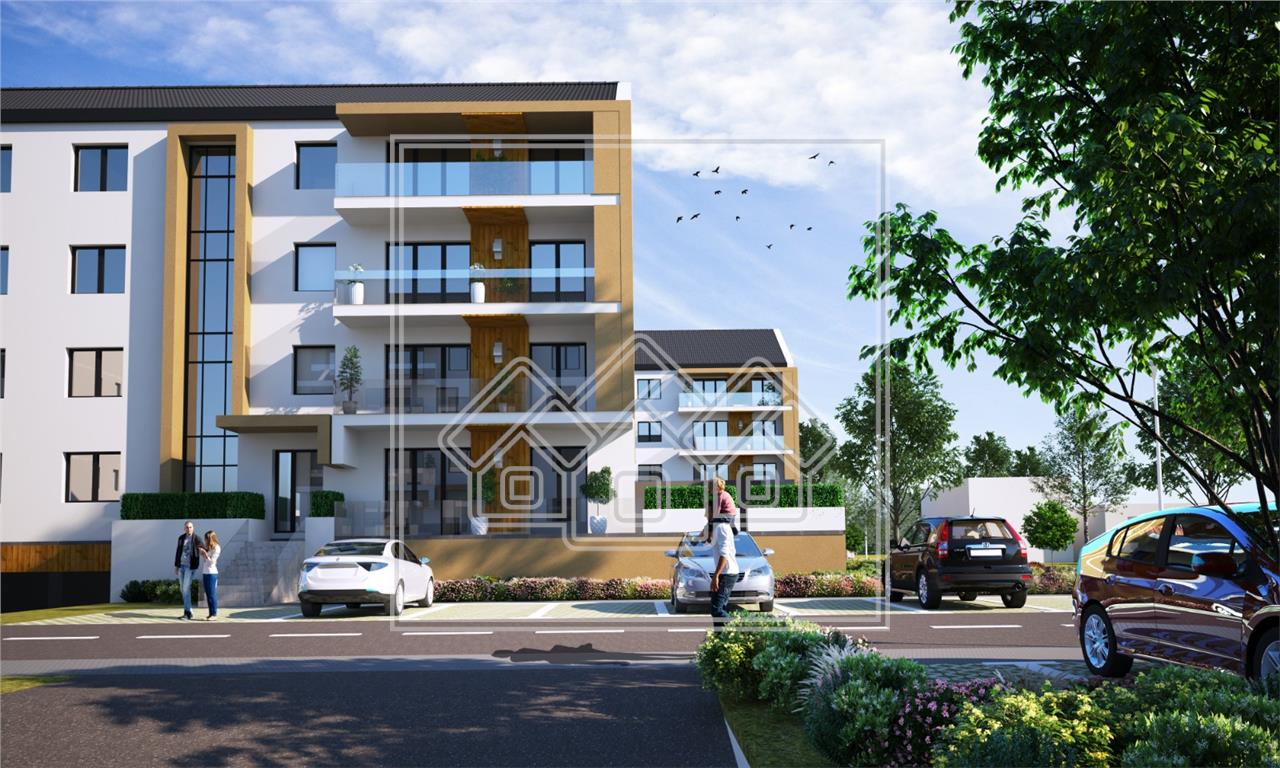 Apartament 2 camere- terasa de 104 mp - pivnita si parcare subterana