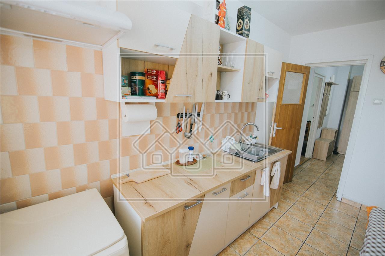 Apartament 2 camere de vanzare in Sibiu - etaj intermediar - Rahovei