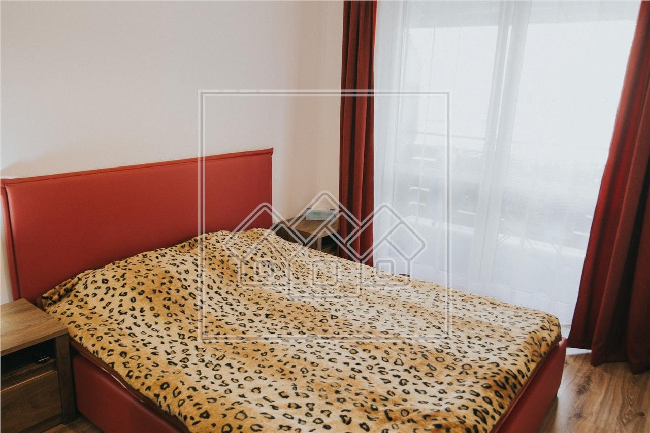 Apartament de inchiriat in Sibiu - 2 camere cu 2 balcoane - decomandat