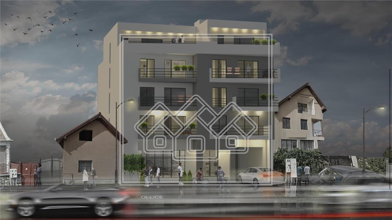 Penthouse de vanzare in Sibiu - 65 mp utili + 100 mp terasa - lift