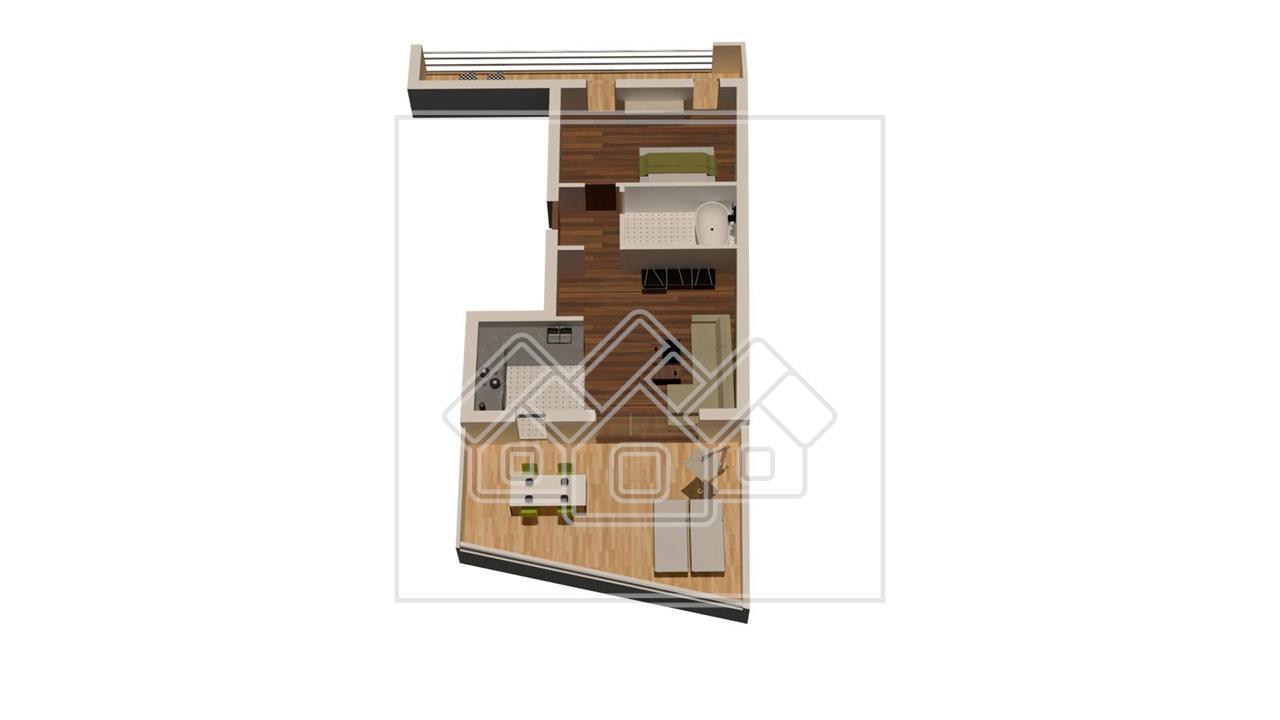 Apartament de vanzare in Sibiu - balcon si terasa - lift -Turnisor