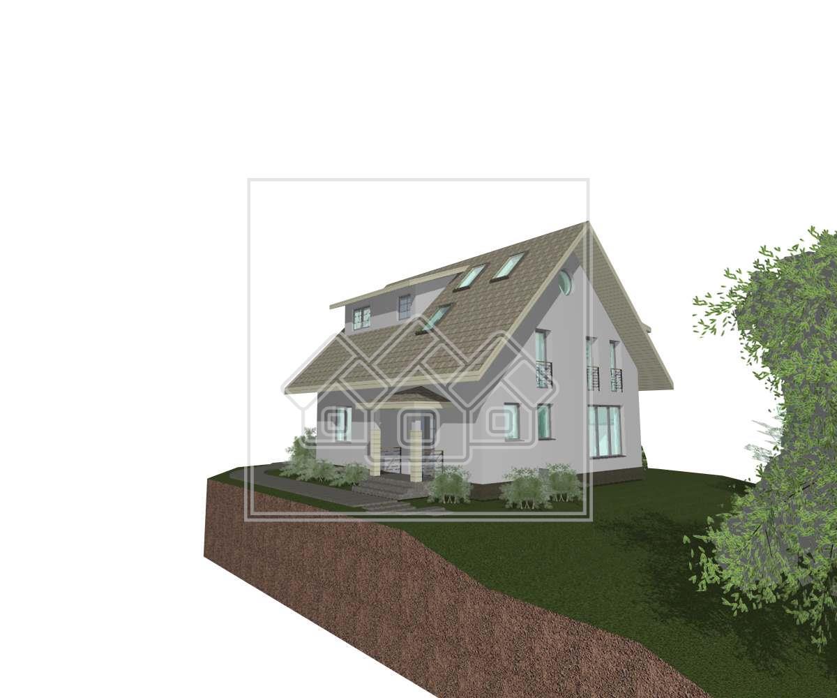 Casa individuala de vanzare in Sibiu - Cisnadie - 5 camere - LUX