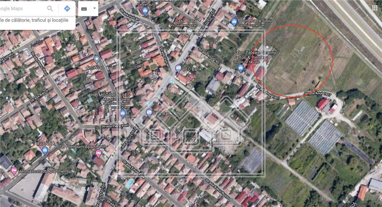 Teren intravilan de vanzare in Sibiu,pretabil constructie P+1+M 48E/mp