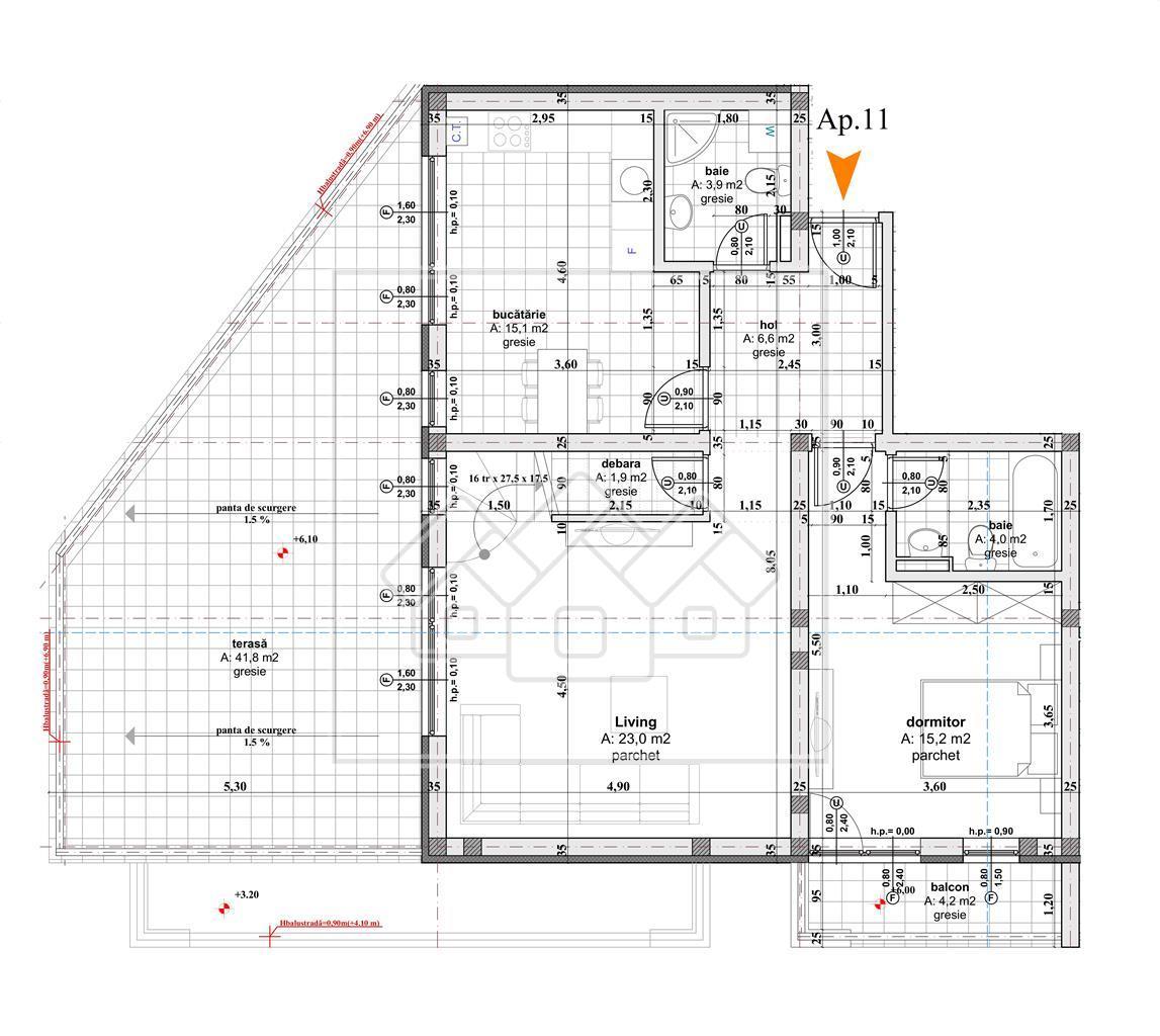 Penthouse de LUX cu 5 camere de vanzare in SIbiu-dispus pe 2 niveluri