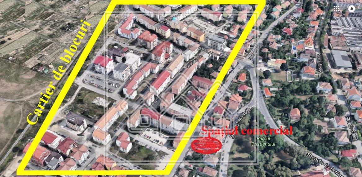 Spatiu comercial de inchiriat in Sibiu, zona cu vad
