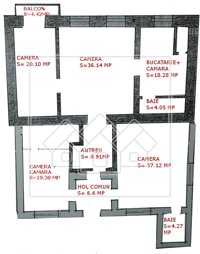 Apartament de vanzare Sibiu -CENTRAL -5 camere, 150 mp