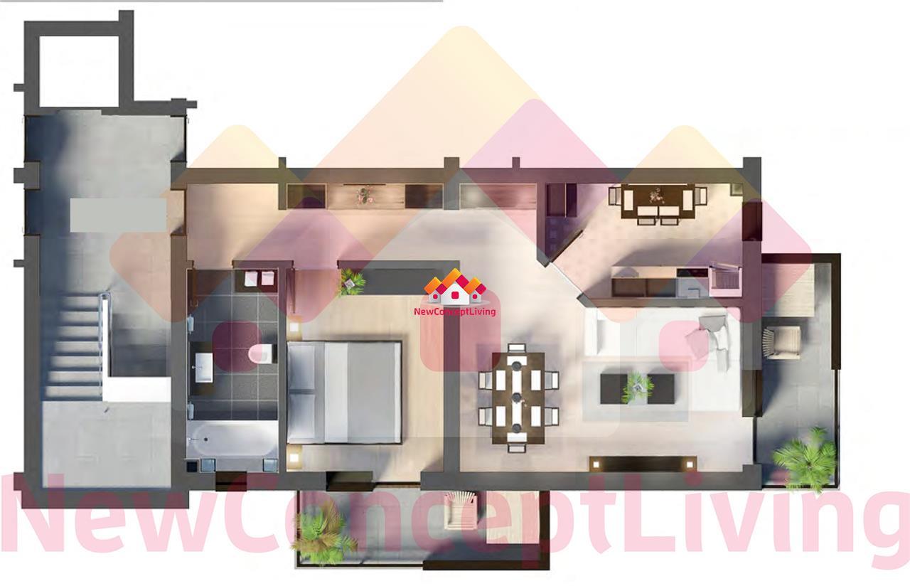 Apartament de vanzare Sibiu -2 camere si 2 terase - etaj intermediar