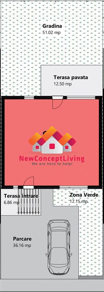 Vila tip Triplex- curte proprie, cu design modern