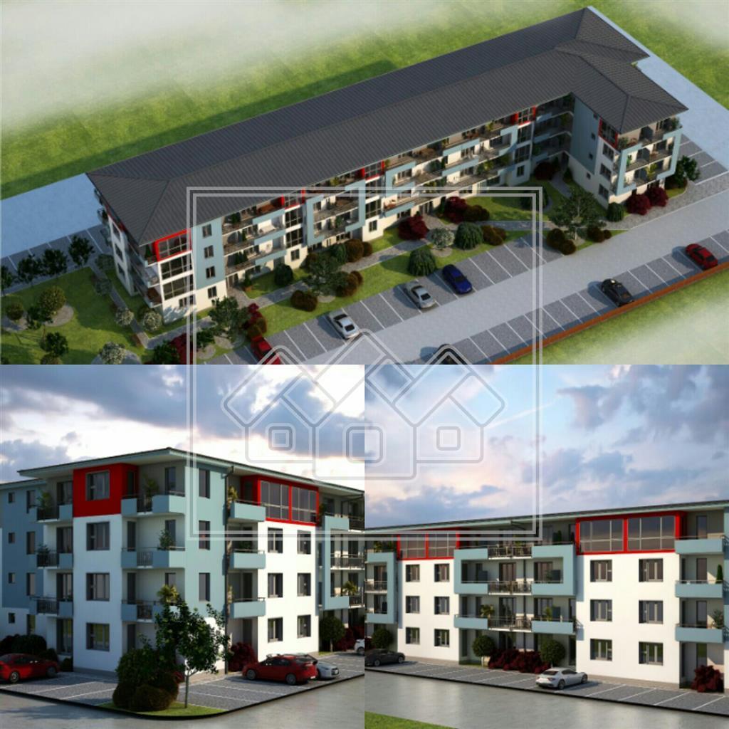 Garsoniera de vanzare in Sibiu - HIBRID - 33.2 mp si terase de 9.5 mp