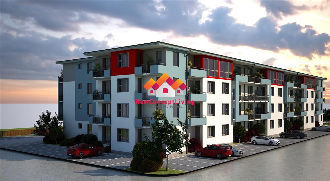 Apartament 2 camere de vanzare in Sibiu - 49.7 mp si terase de 17 mp