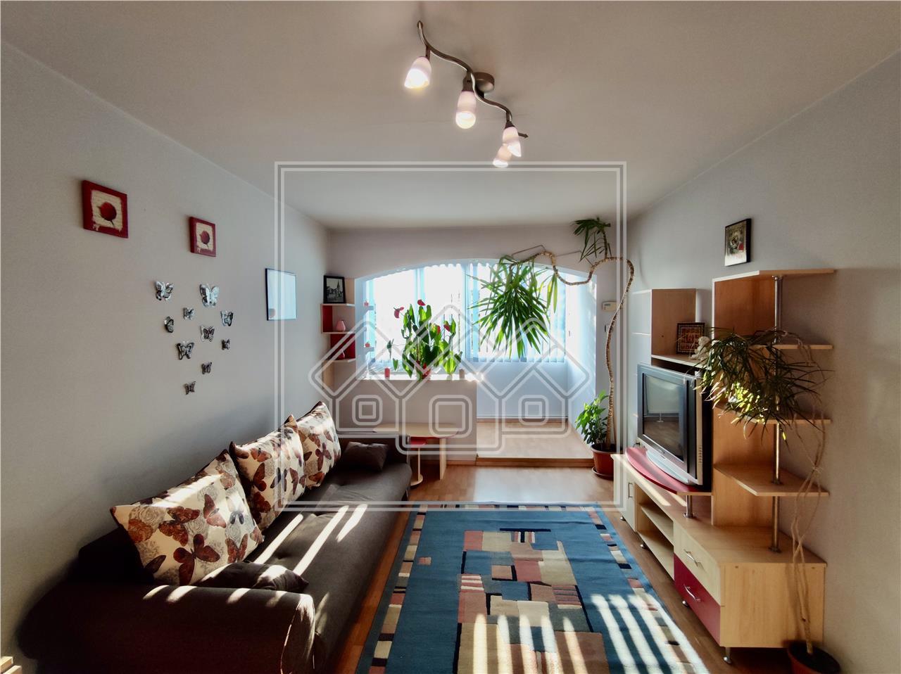 Apartament 3 camere de inchiriat in Sibiu - zona Iorga - etaj 1