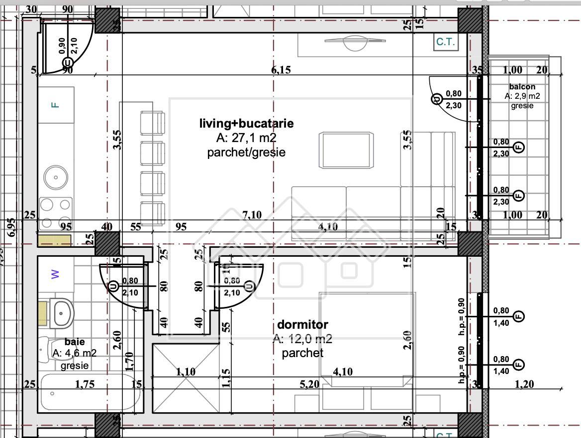 Apartament de vanzare in Sibiu cu 2 camere - Cartier Arhitectilor