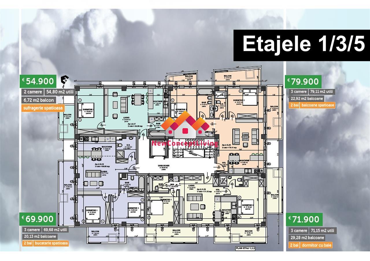 Apartament de vanzare Sibiu - 3 camere -Lift si Boxa la subsol - Sibiu