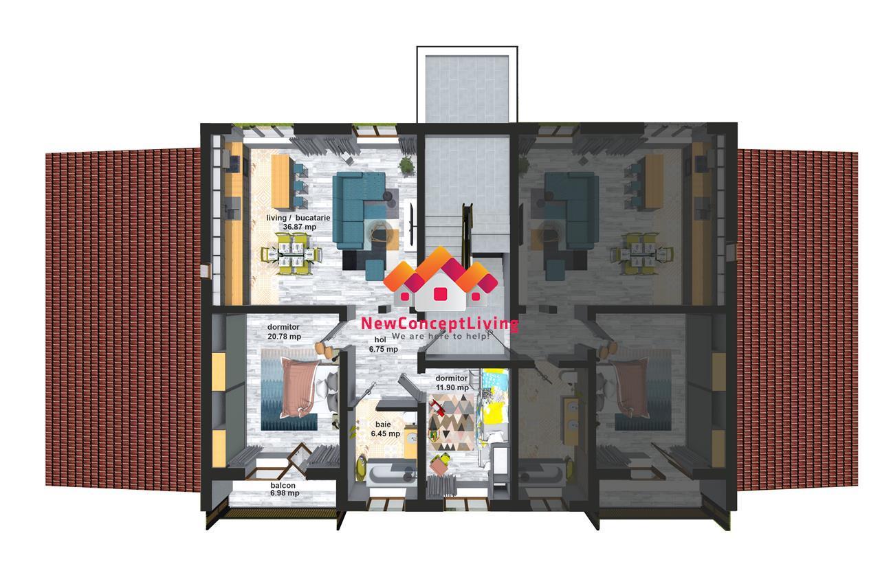 Apartament de vanzare Sibiu -Cisnadie- 3 camere, loc de parcare inclus