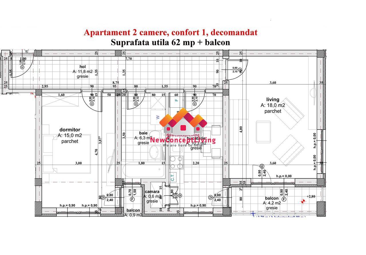 Apartament de vanzare 2 camere Sibiu - etaj intermediar