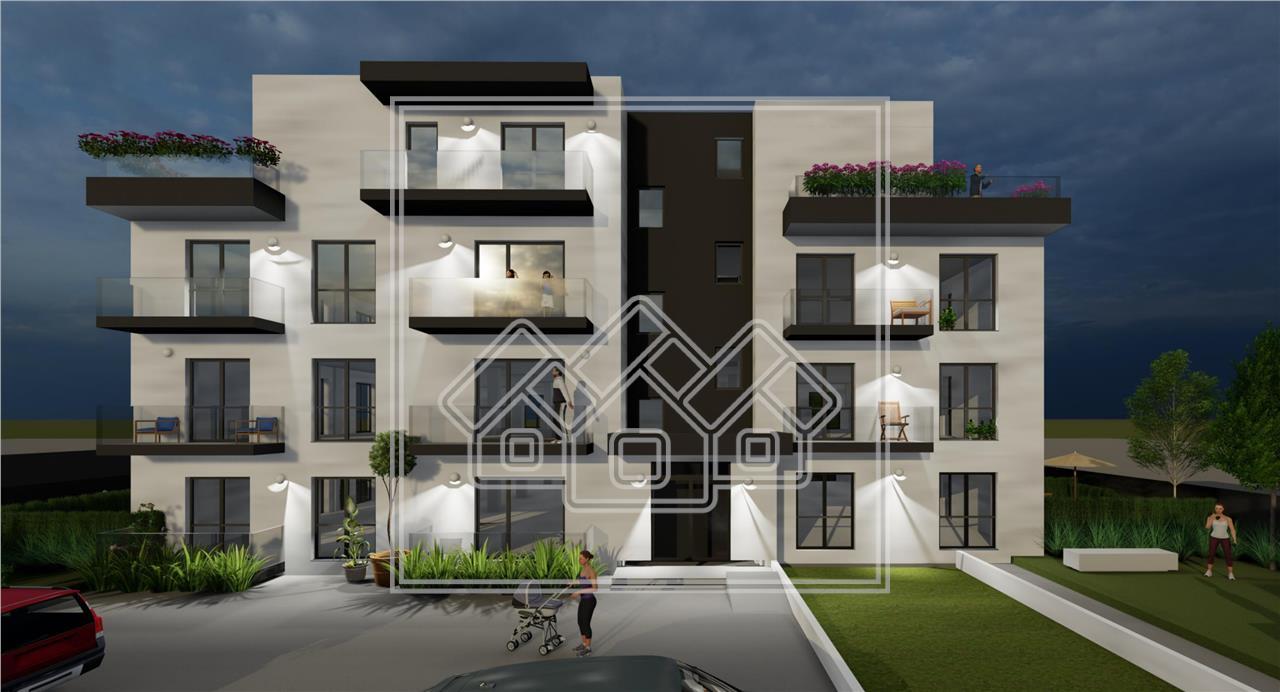 Penthouse de vanzare in Sibiu - terasa, balcon si lift - zona Turnisor