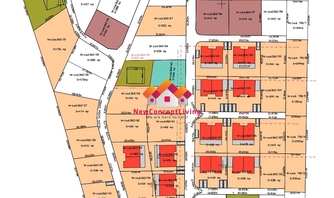Teren cu Autorizatie de Constructie si utilitati-duplex 104 mp utili
