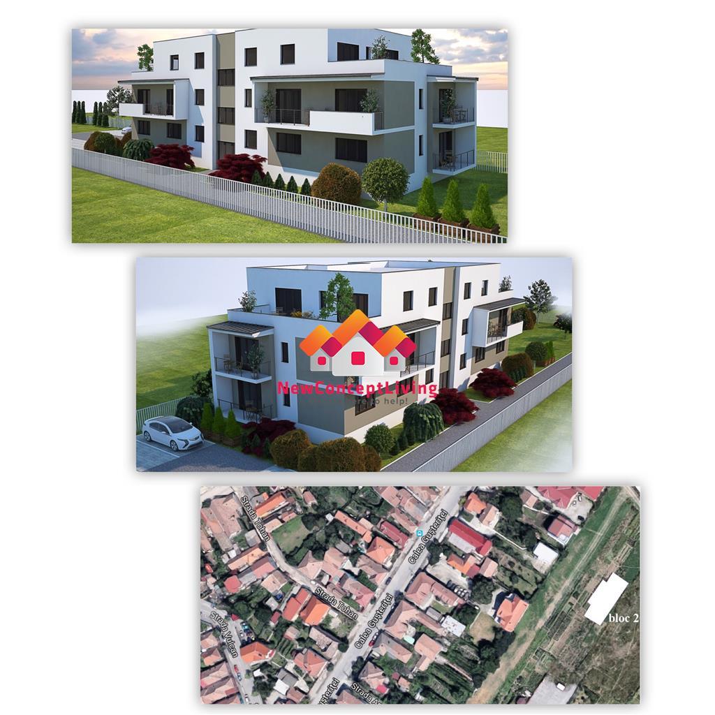 Apartament 2 camere de vanzare in Sibiu. Etaj 1 + 1 Loc de parcare
