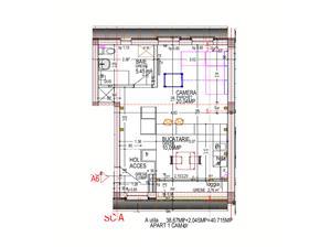 Wohnung zum Verkauf in Sibiu - 2 Zimmer - Zwischengeschoss