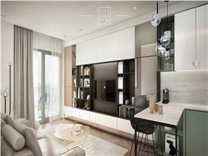 Apartament de vanzare in Sibiu - 2 camere - terasa + curte de 75 mp