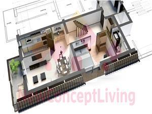 Apartament de vanzare Sibiu -PENTHOUSE - cu pivnita si 2 terase