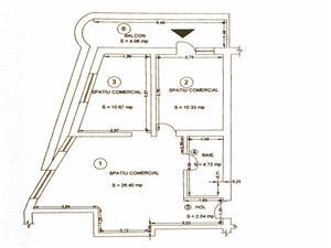 Spatiu comercial de vanzare in Sibiu - 3 camere+balcon -C.Arhitectilor