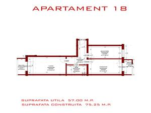 Apartament de vanzare in Sibiu- 2 camere- decomandat- 57 mp utili