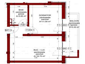 Apartament de vanzare in Sibiu- 2 camere- 31.60 mp