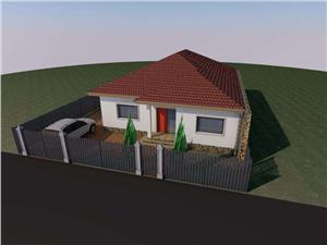Casa 4 camere individuala de vanzare in Sibiu, pe un singur nivel