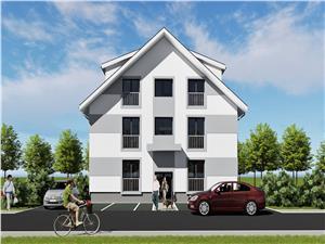 Apartament de vanzare in Sibiu - 3 camere Decomandat, 2 bai, Etaj 2