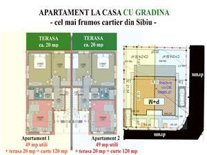 Apartament de vanzare in Sibiu cu gradina minunata, vila cu 4 apt.