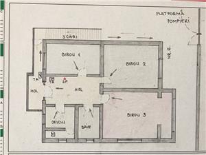 Spatiu birouri de inchiriat in Sibiu - 3 camere - zona B-dul Victoriei