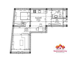 Apartament de vanzare in Sibiu - 3 camere - 50mp si balcon - Ciresica