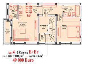 Apartament de vanzare in Sibiu - 5 camere -vila moderna