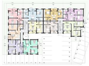 Apartament de vanzare in Sibiu - vedere mixta - 2 balcoane