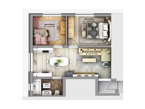 Apartament de vanzare - 3 camere - bucătărie separată