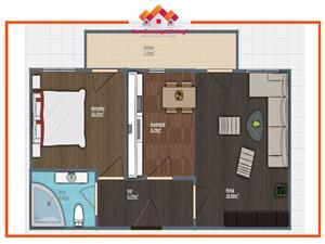 Apartament 2 camere de vanzare in Sibiu - gradina 30 mp