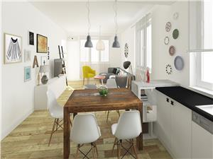 Apartament de vanzare in Sibiu - 2 camere - la Vila - CENTRAL