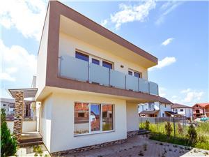 Casa de vanzare in Sibiu, tip duplex cu arhitectura moderna