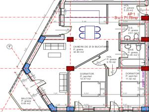Apartament 3 camere de vanzare in Sibiu + balcon si loc de parcare