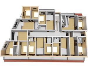 Apartament de vanzare in Sibiu - 3 camere - pod mansardabil