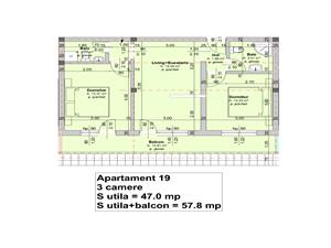 Apartament de vanzare in Sibiu-3 camere si 2 bai-pod mansardabil 61 mp