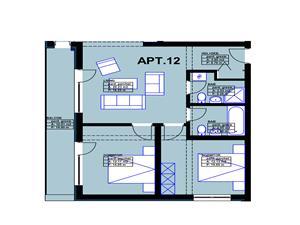 Apartament de vanzare in Sibiu - 3 camere, 2 bai si bucatarie separata
