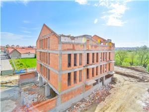 Apartament 3 camere de vanzare in Sibiu - cu gradina de 39,2 mp